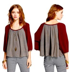 FREE PEOPLE fastball gathered thermal SWING TOP 💟
